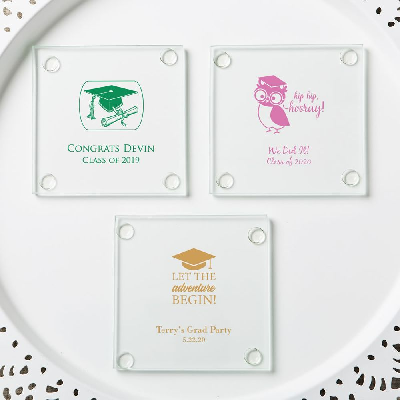 Personalized Stylish Coasters  - Graduation Design