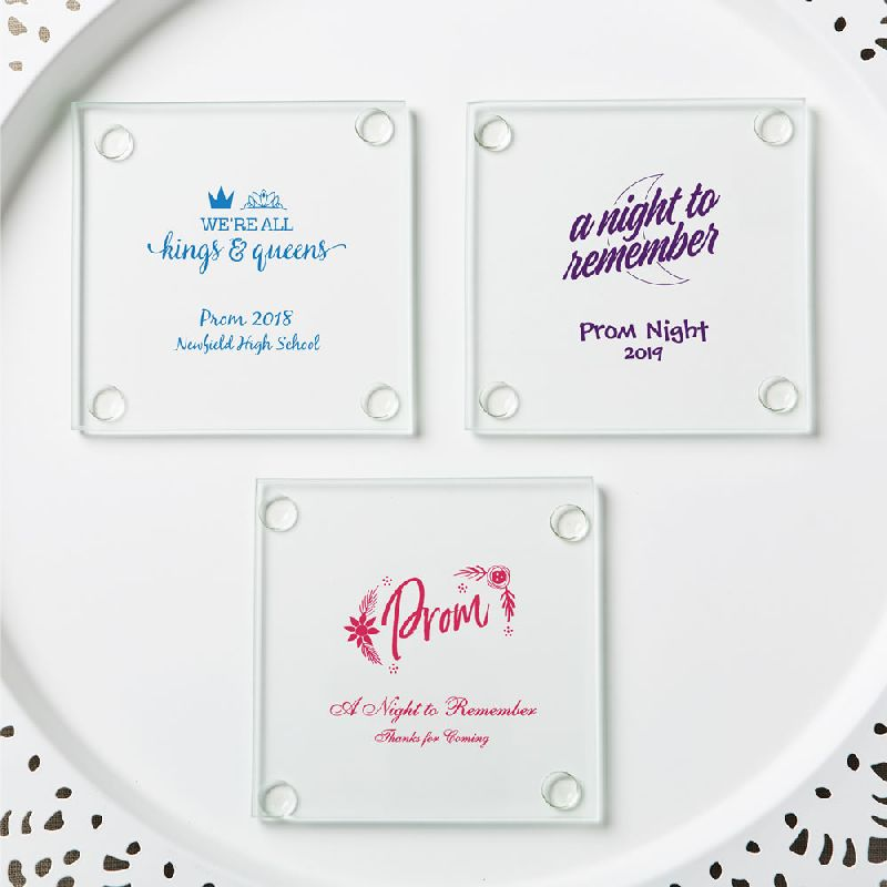 Personalized Stylish Coasters - Prom Design