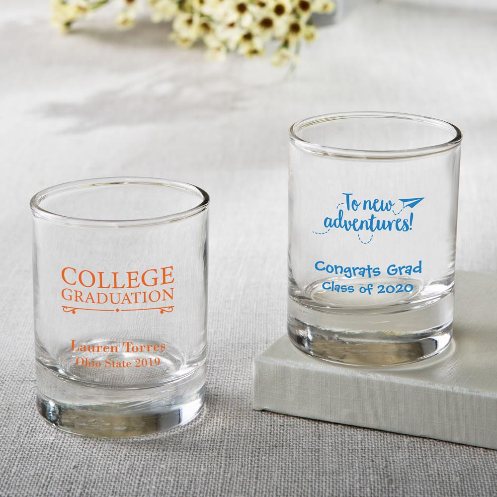 Personalized Shot Glass Or Votive Graduation Design