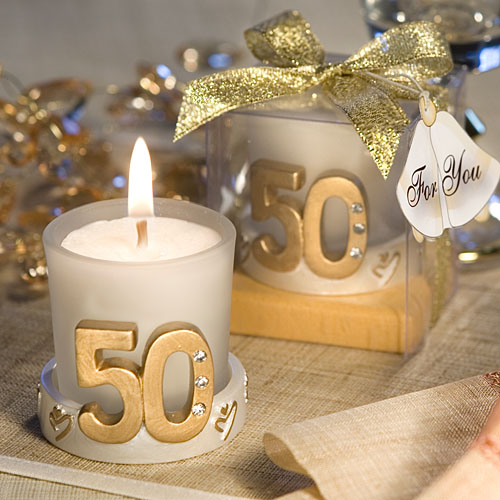 50th Anniversary Candle Favor