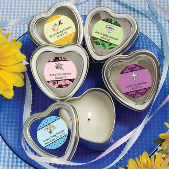 Personalized Scented Heart Travel Candles-Baby