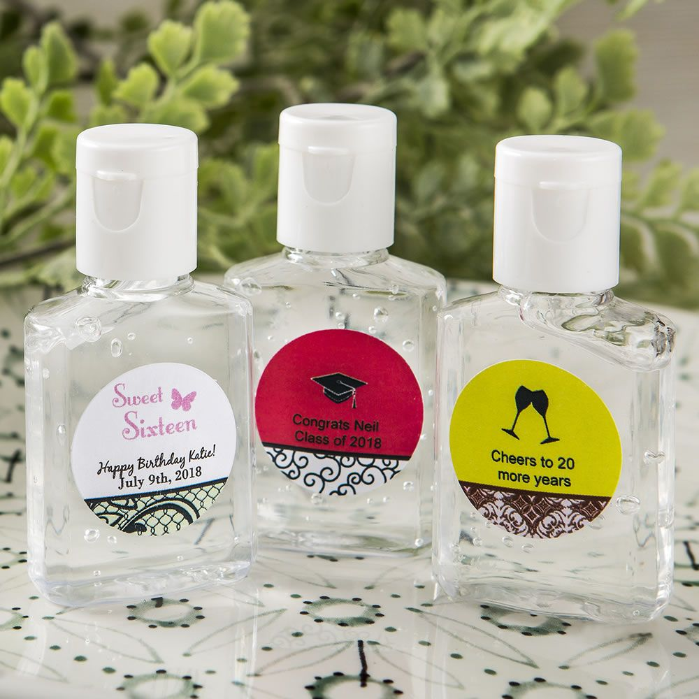 Personalized Expressions Hand Sanitizer Favors-Celebrate