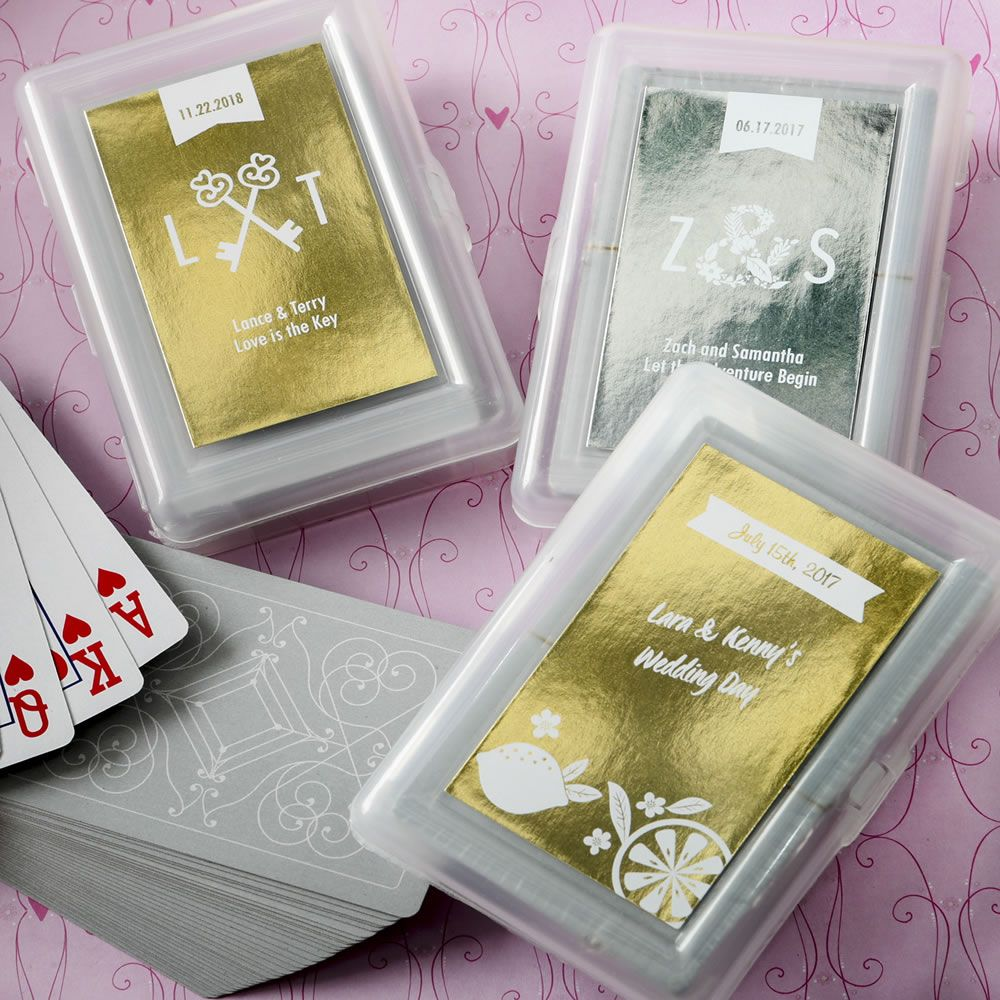 Personalized Metallics  Playing Cards With A Designer Top