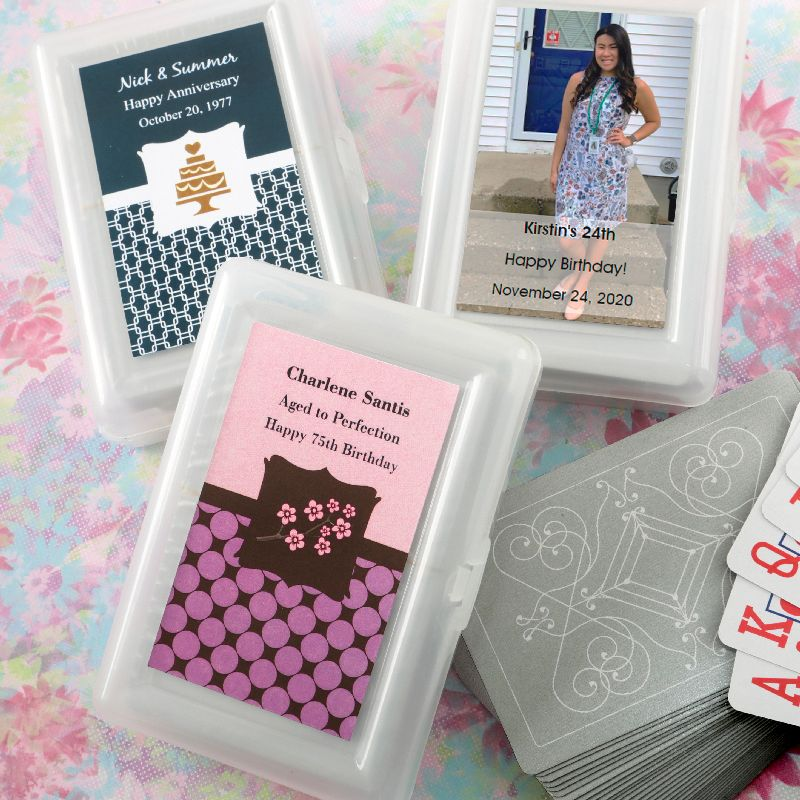 Personalized Playing Cards W Designer Top Celebrate