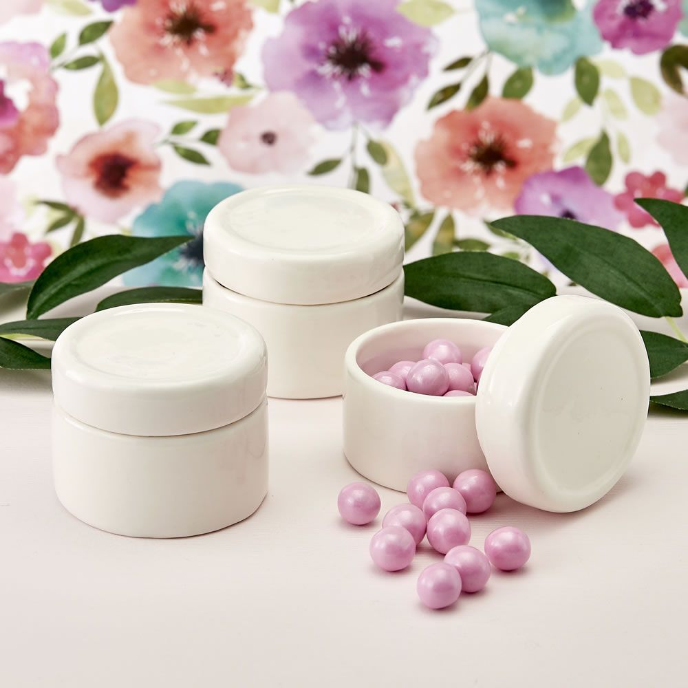 Perfectly Plain Collection Ceramic Trinket Jar Epoxy Dome
