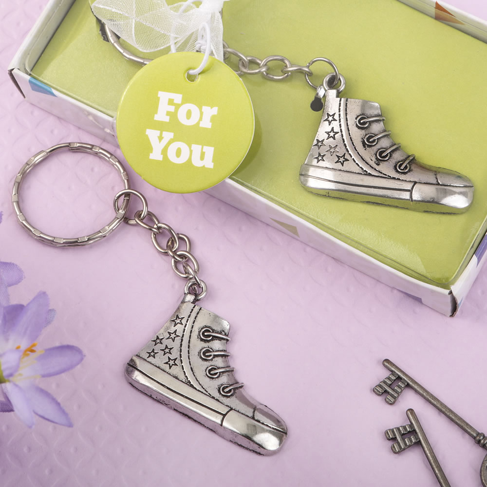 Metal Silver Sneaker Design Key Chain