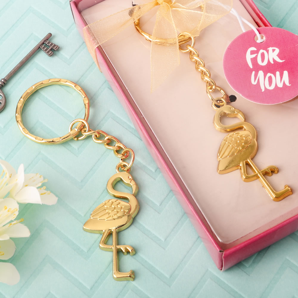 Flamingo Design - Tropical Key Chain