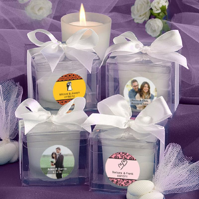 Personalized Frosted Candle