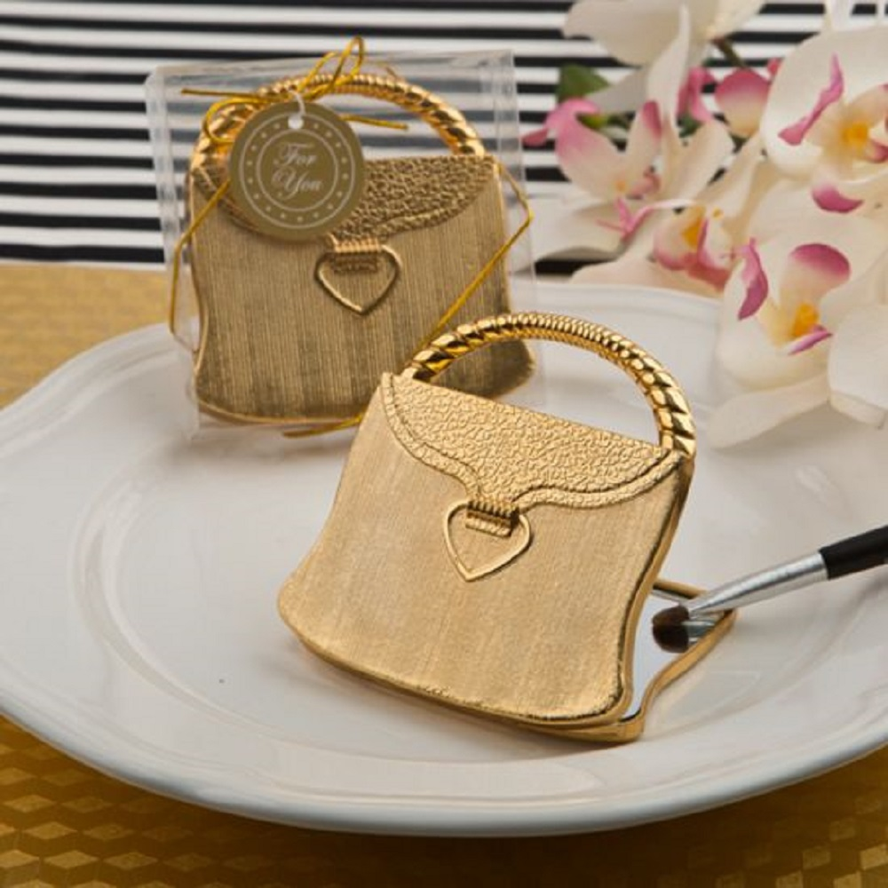 Gold Purse Compact Mirror-'Elegant Reflections' Collection