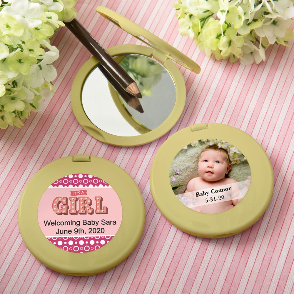 Personalized Expressions Collection Gold  Compact Mirror - Baby