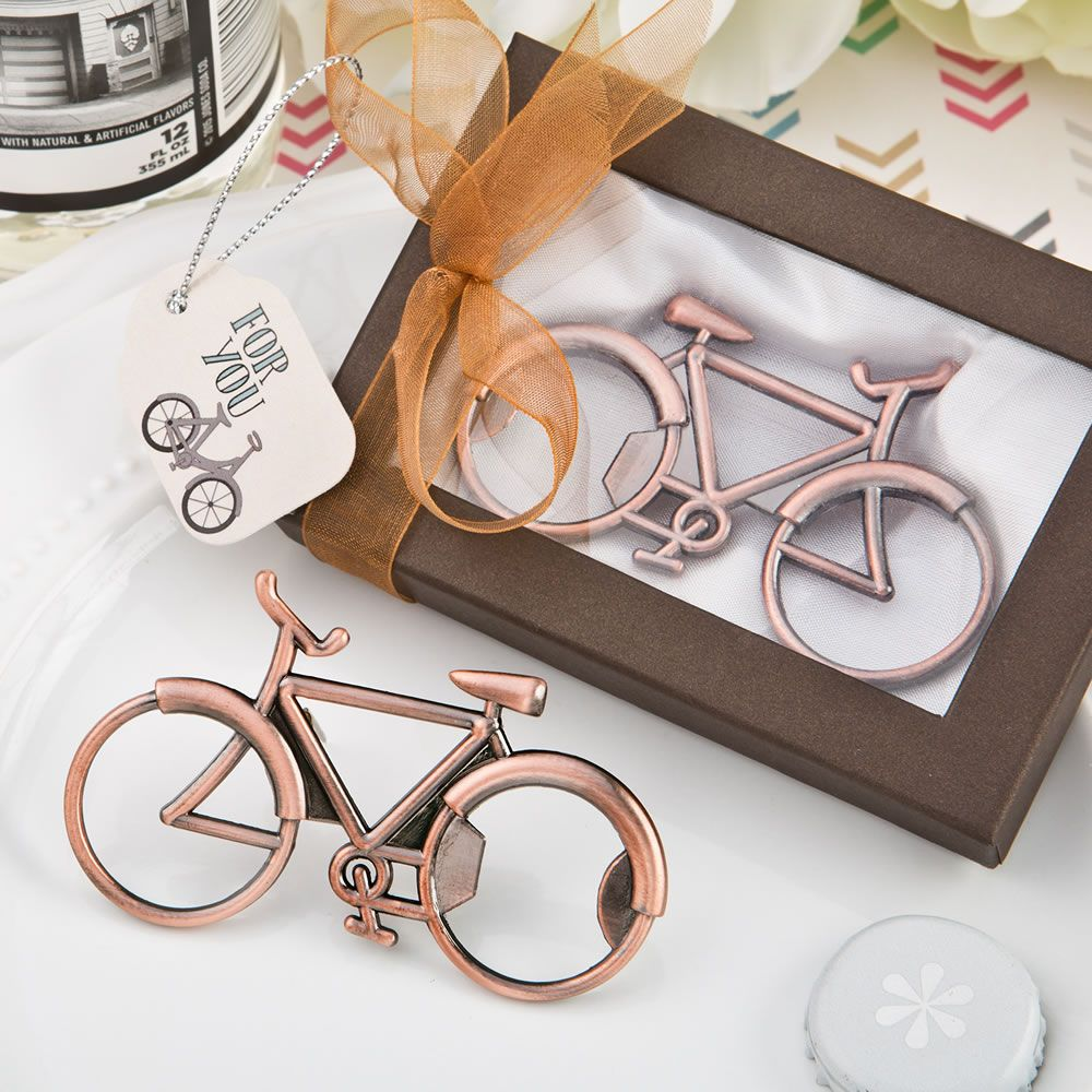 Vintage Bicycle Design Copper Color Metal Bottle Opener