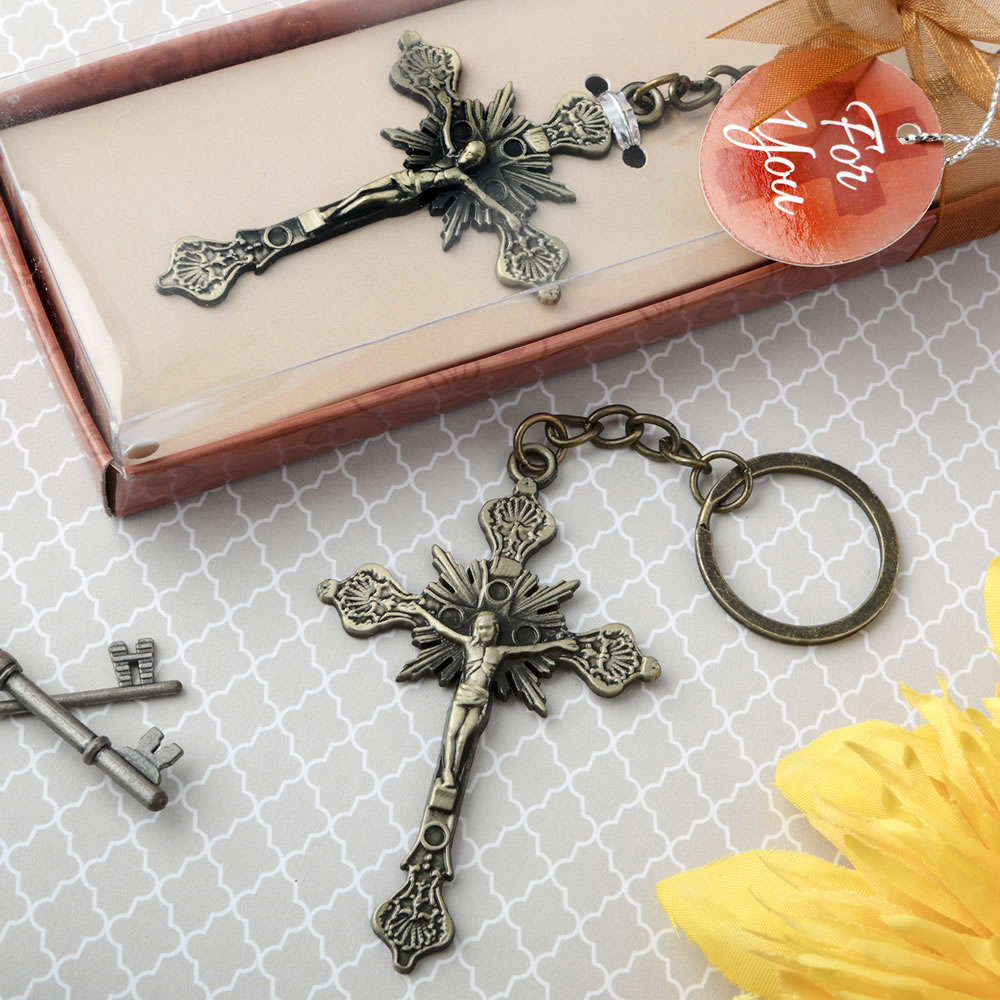 Jesus On The Cross Design Key Chain