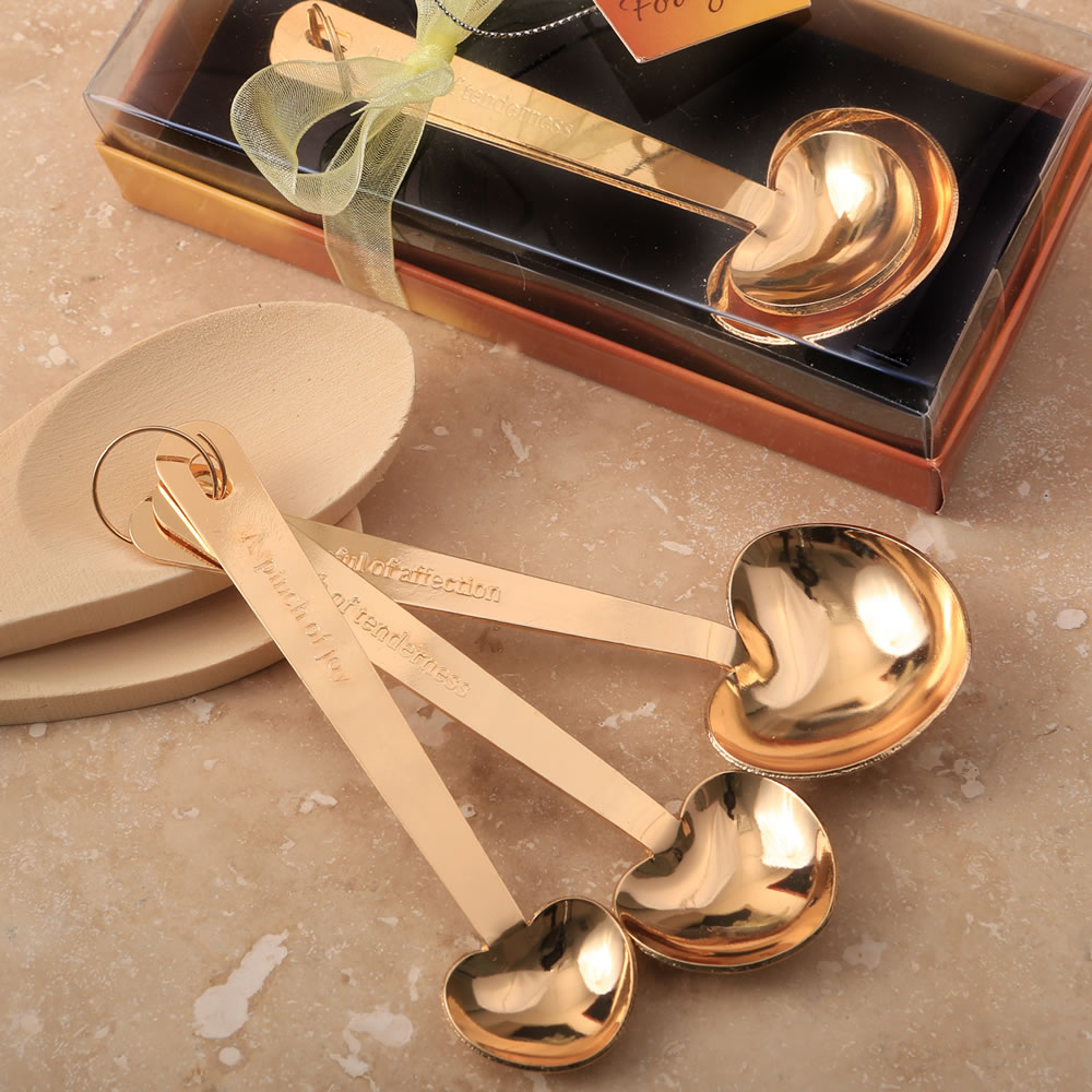 Love Beyond Measure Set Of 3 Gold Stainless Steel Measuring Spoons