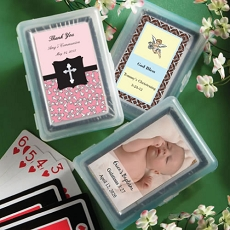Personalized Playing Card Favor - Baptism Design