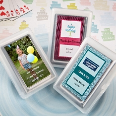 Personalized Expressions Playing Cards-Celebrate