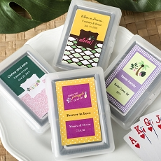 Personalized Playing Card Favor - Tropical Design