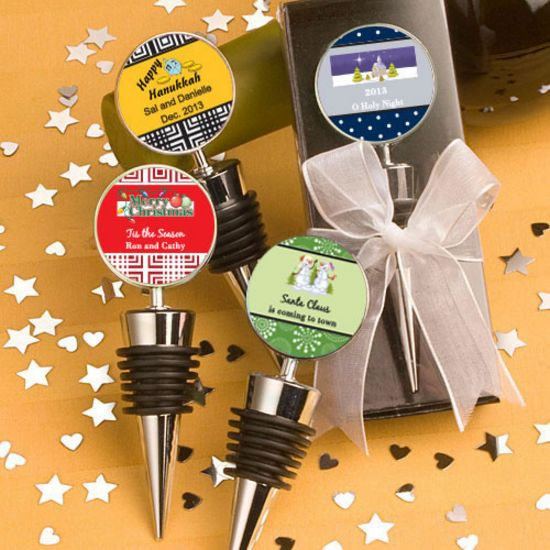 Personalized Wine Bottle Stoppers-Holiday