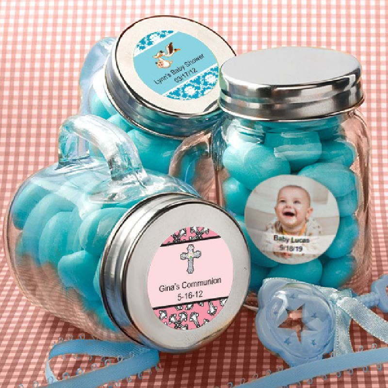 Personalized Glass Mason Jars - Baby