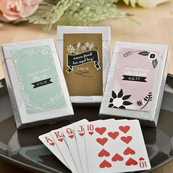 Vintage Design Collection Playing Card Favors - Black, White and Red