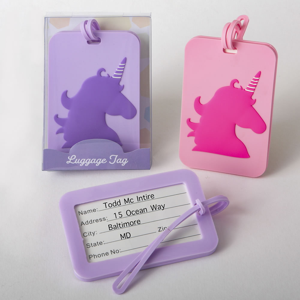 Unicorn Luggage Tags - 2 Assorted Designs From Gifts