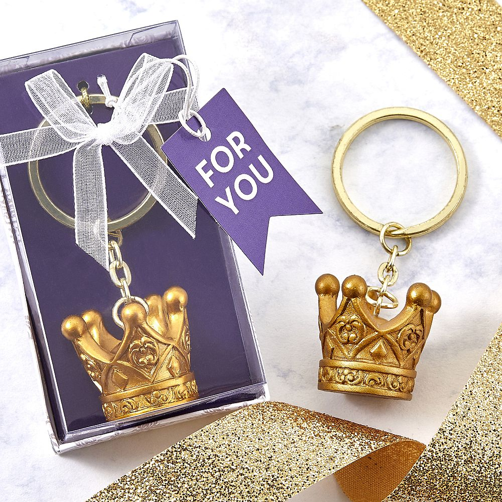 Make It Royal Collection Gold Crown Keychain