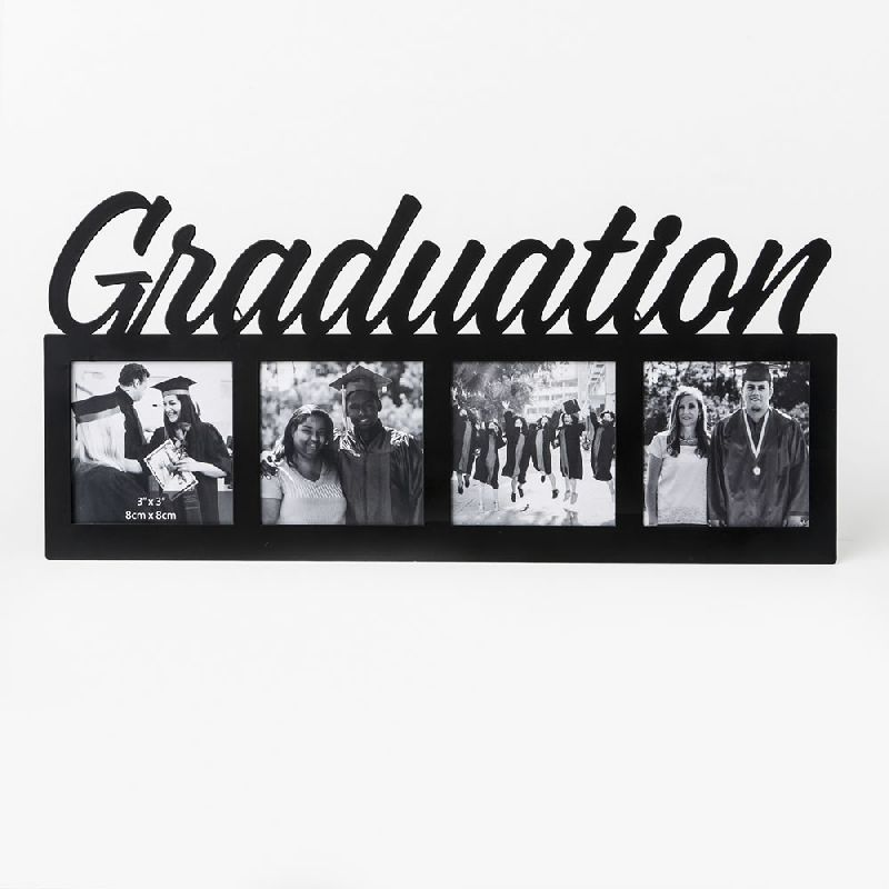 Large  Letters Graduation Frame - 4 Openings