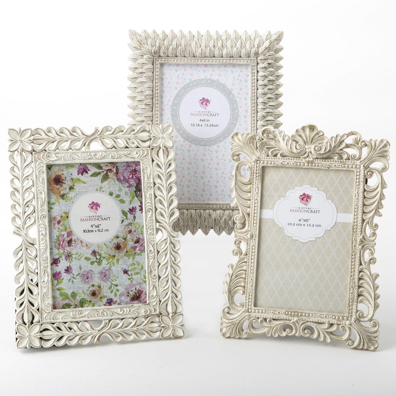 Ivory Leaf Frames - set of 3 - Gifts by Fashioncraft fashion craft 