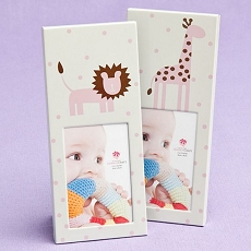 Animal Themed  Baby Frames - Pink