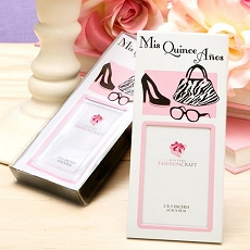 Quinceanera Charms Favors - Themed Frames For Her