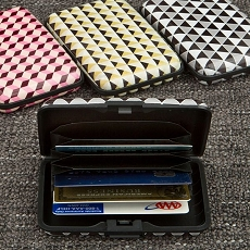 Geometric Design Aluminium Wallets