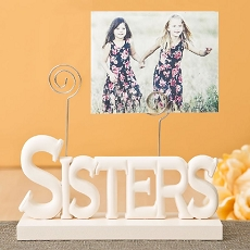 Lovely Rose White Sisters Photo Holder By Fashioncraft