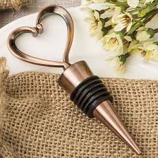 Heart Shaped Copper Plated Bottle Stopper