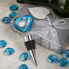 Murano Heart Design Stoppers