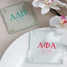 Personalized Glass Coasters-greek