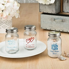 Silk Screened Personalized 3.5 Oz. Glass Mason Jar-Celebrate