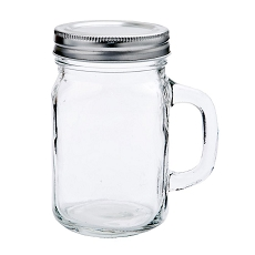 12 Ounce Perfectly Plain Glass Mason Jar