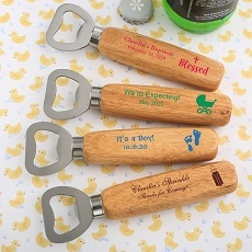 Design Your Own Wood Handle Bottle Opener - Baby