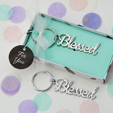 Silver Blessed Key Chain
