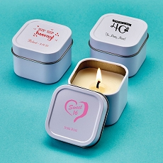 Design Your Own Direct Screen Printed Candle Tin - Birthday