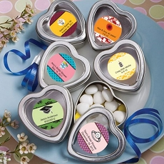 Personalized Silver Heart Mint Tins-Celebrate