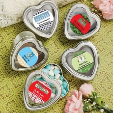 Personalized Expressions Silver Heart Mint Tins-Holiday