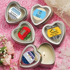 Personalized Scented Heart Travel Candles-Holiday