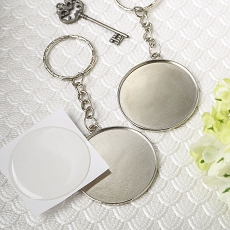 Perfectly Plain Collection Epoxy Dome Metal Key Chain