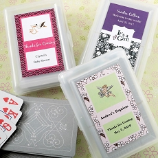 Personalized Playing Cards w/Designer Top-Baby