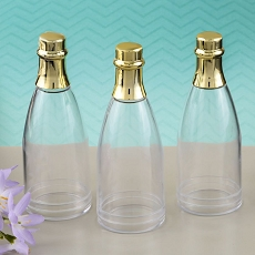 Perfectly Plain Collection Champagne Bottle with Gold Foil Top