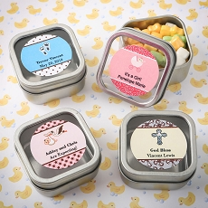 Personalized Expressions Collection Clear Top Mint Tin Favors - Baby