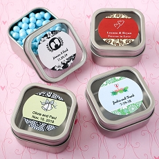 Personalized Expressions Collection Clear Top Mint Tin Favors