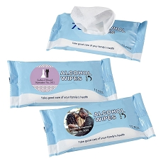 Personalized Alcohol Wipes Pack of 10 Sheets