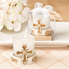 Vintage Cross Candle Votive From Fashioncraft