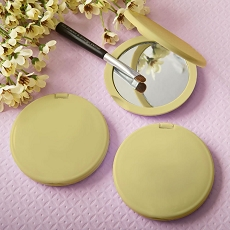 Perfectly Plain Collection Gold  Compact Mirror